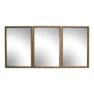 Faux Bamboo Mirrors, Set of 3 For Sale