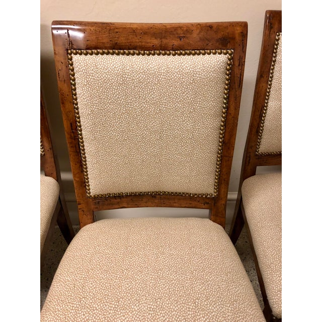 French Bausman & Company Bench Made Side Chairs - Set of 4 For Sale - Image 3 of 13