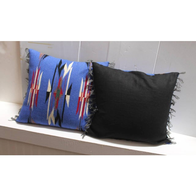 Pair of Mexican-American Chimayo Indian Weaving Pillows - Image 2 of 4