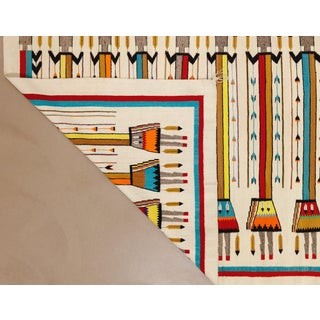 """1970s Vintage Navajo Pictorial Yei Rug-4'8"""" X 7'8"""" Preview"""