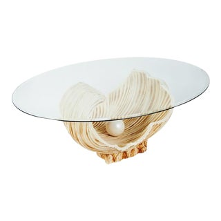 Incredible Oyster and Pearl Coffee Table 1970s For Sale