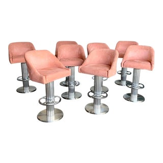 Design for Leisure Bar Stools - Set of 8 For Sale