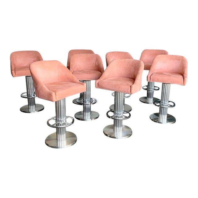 Design for Leisure Bar Stools - Set of 8 For Sale
