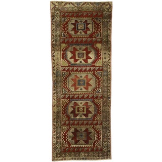 1950s Vintage Turkish Oushak Runner Rug - 3′10″ × 10′ For Sale