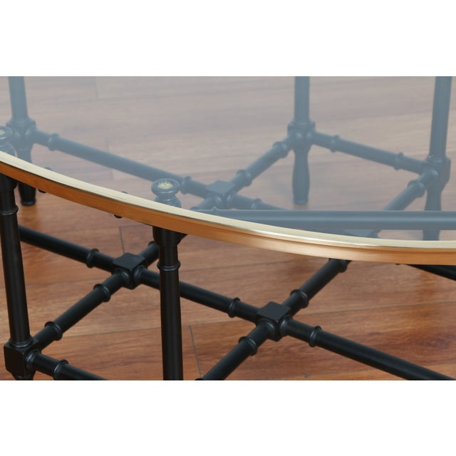 Bamboo Base Coffee Table - Image 5 of 10