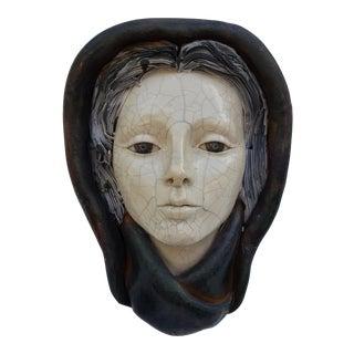 Paul Henry Art Hand Made Decorative Female Wall Sculpture .