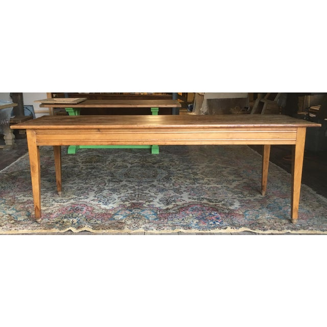 Antique Pine Farm Table For Sale - Image 5 of 10