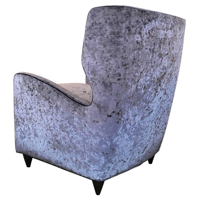 Mid-Century Modern Pair of Mid-Century Italian Club Chairs For Sale - Image 3 of 5