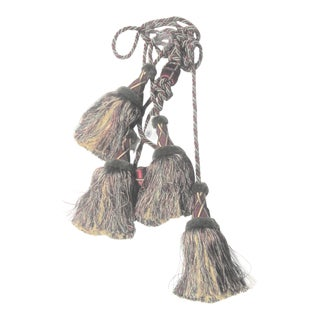 Very Large Double Tassel Drapery Tie Backs - a Pair