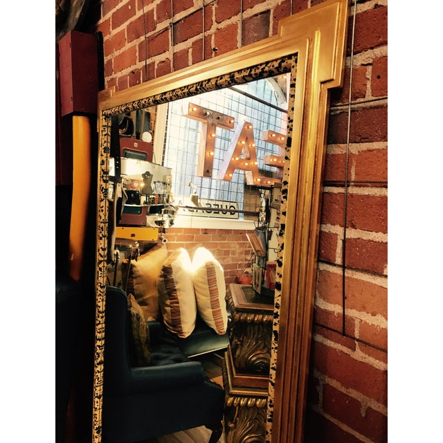 Deco Inspired 1980s Gold & Tiger Print Wall Mirror - Image 4 of 9