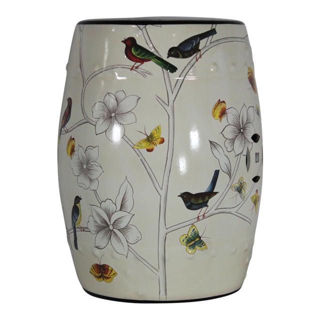 Ceramic Modern Contemporary Floral Porcelain Garden Stool For Sale - Image 7 of 7