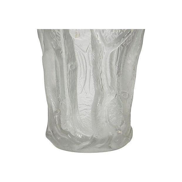 Czechoslovakian Frosted Glass Vase Chairish