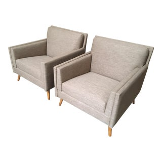 Vintage Mid Century Paul McCobb Lounge Chairs- A Pair For Sale