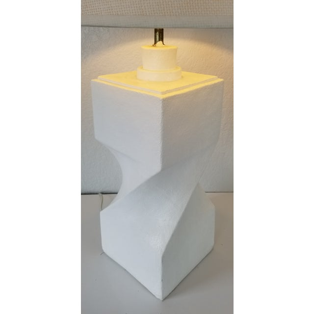 Postmodern Geometric Plaster Decorative Table Lamp For Sale - Image 4 of 9