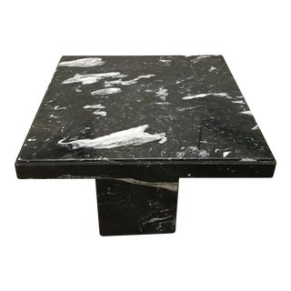 1960s Black Italian Marble Table For Sale