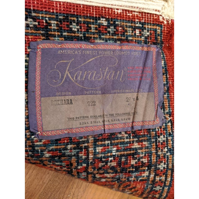 "Textile Karastan Bokhara Rug (2'-2"" X 4'-0"") For Sale - Image 7 of 9"