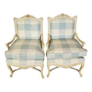19th Century French Bergeres- A Pair For Sale
