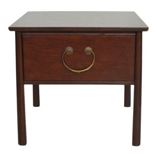 Henredon Mahogany Side Table Storage by Harvey Probber For Sale