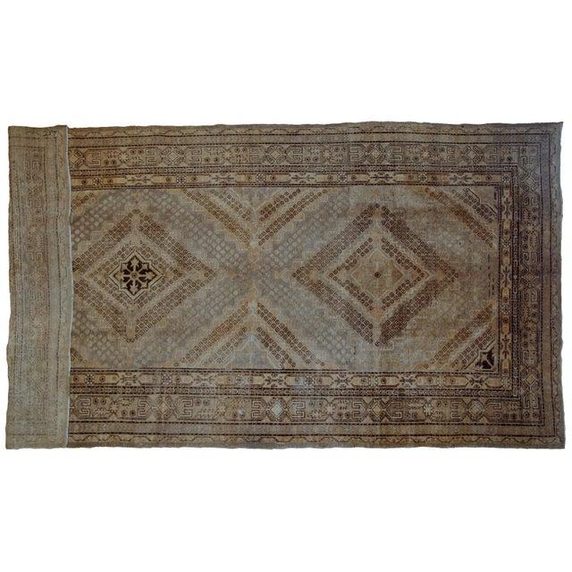 Early 20th Century 1900s Handmade Antique East Turkestan Khotan Rug 6.1' X 11.9' For Sale - Image 5 of 12