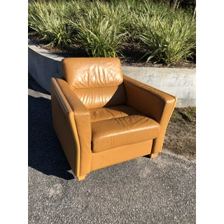 1970s Vintage Ekornes Danish Leather Lounge Chair Preview