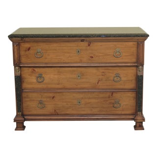 1990s French Empire EJ Victor Marble Top Dresser Chest For Sale