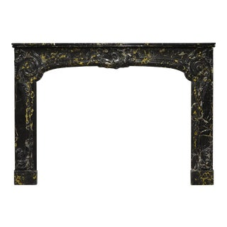 Antique Portoro Marble Dutch Louis XV Fireplace Mantel, 18th Century For Sale