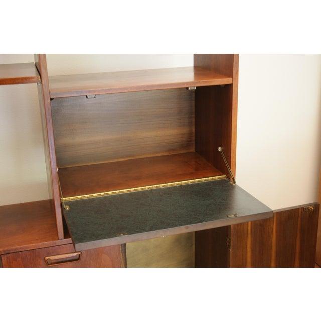 Danish Modern Room Divider Bookcase in Walnut For Sale In Dallas - Image 6 of 13
