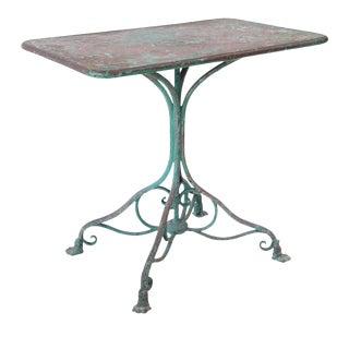 Arras Iron Garden Table For Sale
