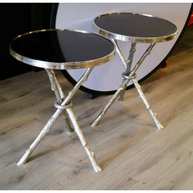 Modern Pair of Faux Bois Table For Sale - Image 3 of 4