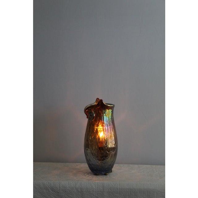 Vintage Mid Century Modern Art Glass Owl For Sale - Image 4 of 10