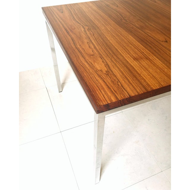 Mid-Century Modern FLorence Knoll Floating Top Rosewood Table For Sale - Image 3 of 6