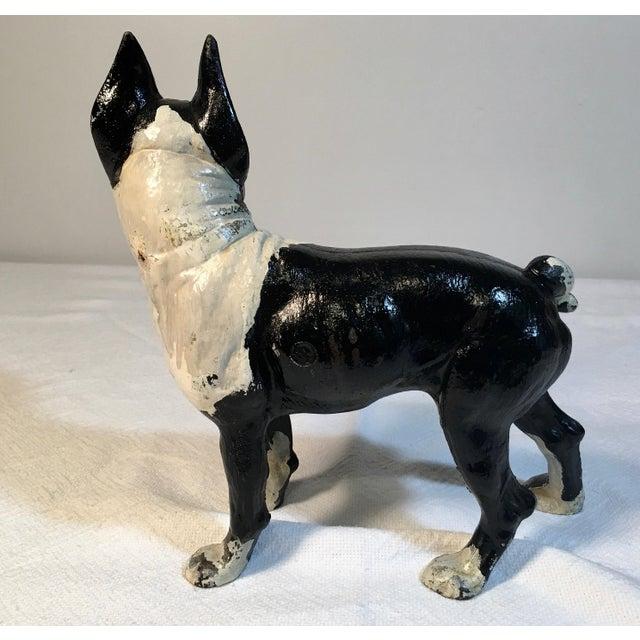 Vintage Hubley Boston Terrier Cast Iron Door Stop Chairish