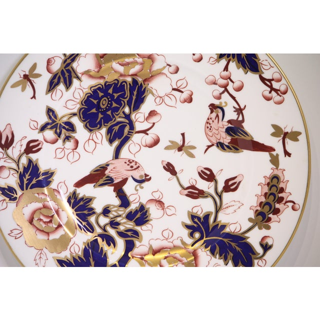 Coalport Hong Kong Pattern Bone China Dinner Plate For Sale In West Palm - Image 6 of 8