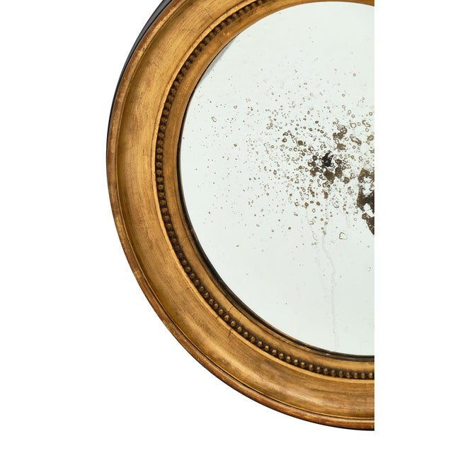 Louis XVI Period French Round Mirror For Sale - Image 4 of 10