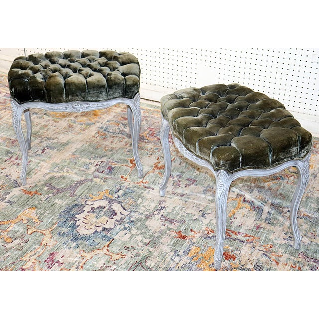 Vintage Louis XV Style Stools - a Pair For Sale - Image 4 of 11