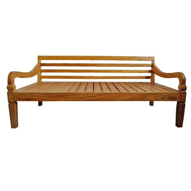 2010s Simple Teak Daybed For Sale - Image 5 of 5