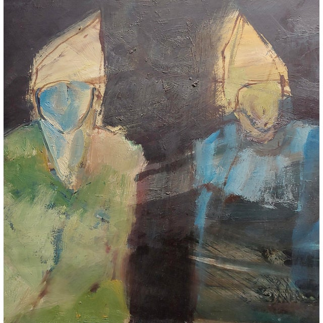 Robert Moesle -Two Abstract and Surreal Figures -Oil Painting For Sale - Image 4 of 11