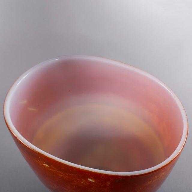 Red Ermanno Nason for Antonio Da Ros Opaline Murano Glass Bowl For Sale - Image 8 of 10