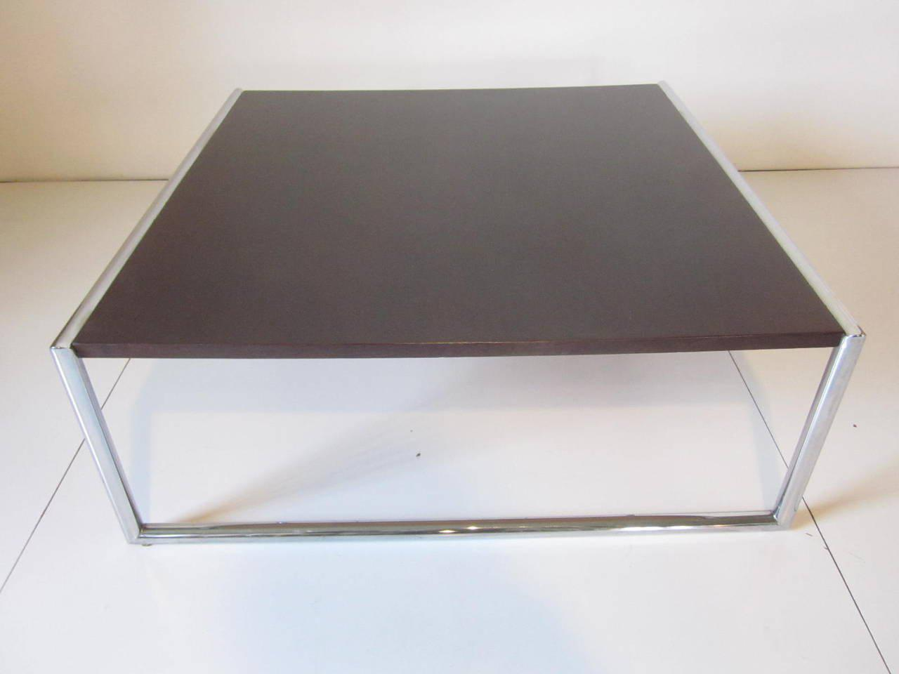 Incroyable Ebony Finished Wood And Chrome Coffee Table For Sale In Cincinnati   Image  6 Of 6