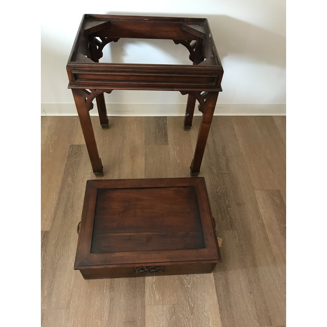 Vintage Reproduction Mahogany Box on Stand For Sale In Kansas City - Image 6 of 10