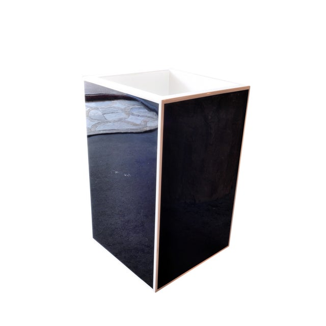 Black Lacquered Acyrlic Planter - Image 3 of 3