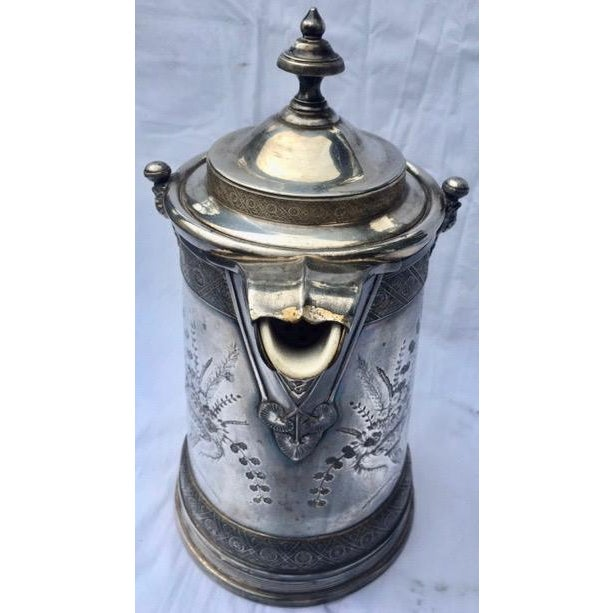 1870s Reed & Barton Victorian Silverplated Water Pitcher For Sale In New York - Image 6 of 13