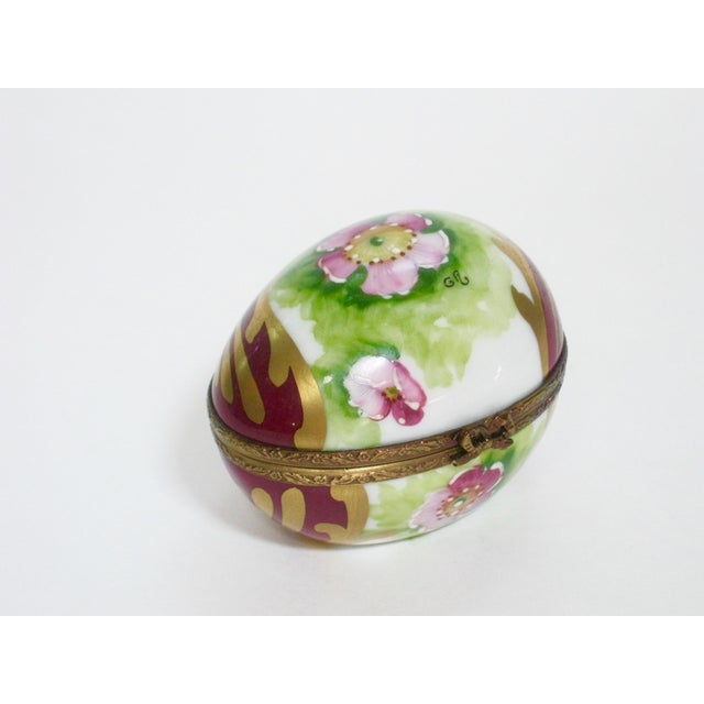 Vintage Limoges France Hand Painted Egg Box For Sale In Providence - Image 6 of 6