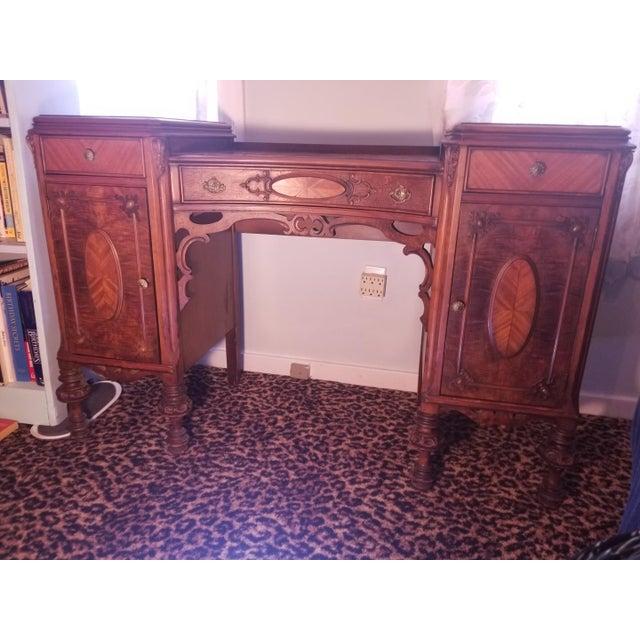 Williamsport Walnut Burl & Mahogany Vanity Table - Image 2 of 11