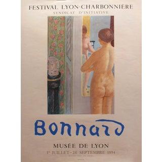 1954 French Exhibition Poster - Festival Lyon Charbonniere - Pierre Bonnard - Musée De Lyon For Sale