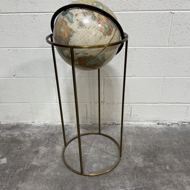 Replogle Globe in Brass Stand Paul McCobb For Sale - Image 10 of 10