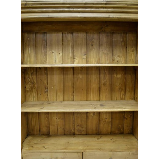 Antique Pine Bookcase With Two Doors and Two Drawers For Sale In Washington DC - Image 6 of 9