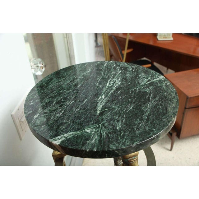 Mid-Century Modern Pair of Maison Jansen Bronze and Marble Pedestals For Sale - Image 3 of 9