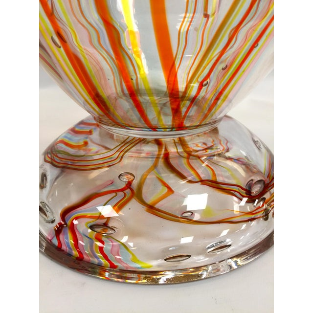 Elio Raffaeli Murano Glass Vase by Elio Raffaeli Carnaval For Sale - Image 4 of 9