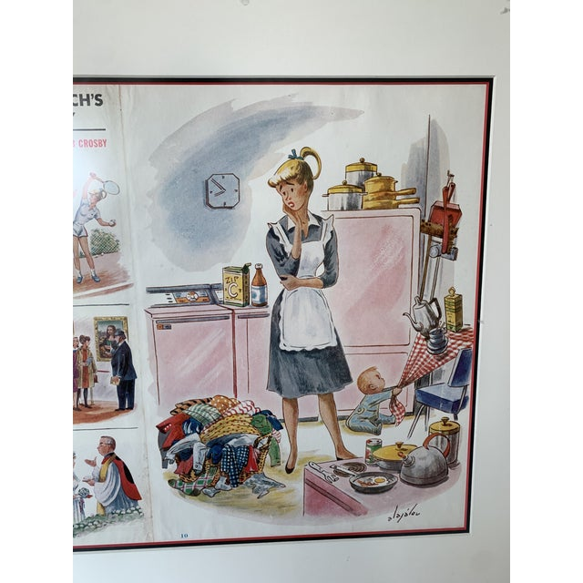 Framed 1960 Saturday Evening Post Illustration For Sale In New York - Image 6 of 13